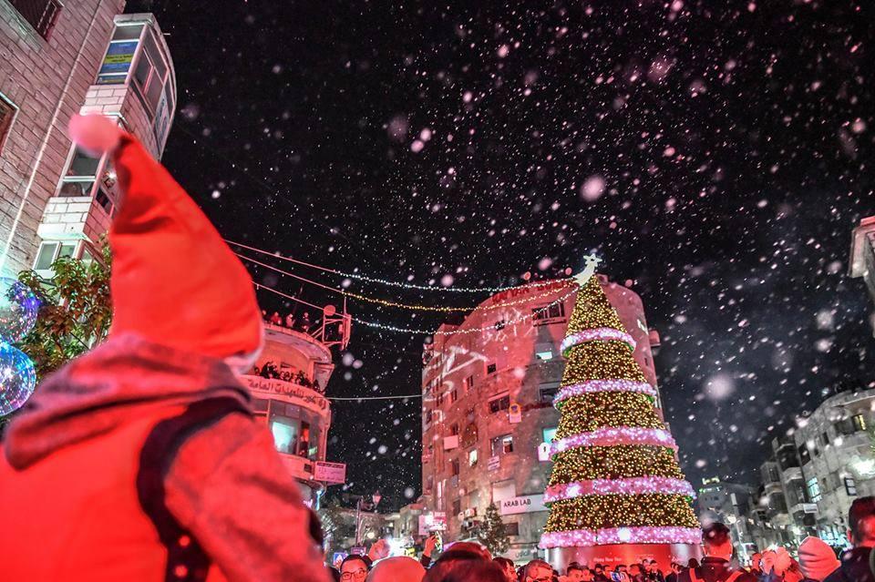 حفل اضاءة شجرة الميلاد - مدينة رام الله 2018